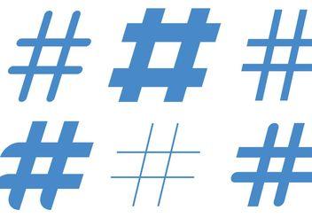 Blue Hashtag Vectors - Free vector #140981