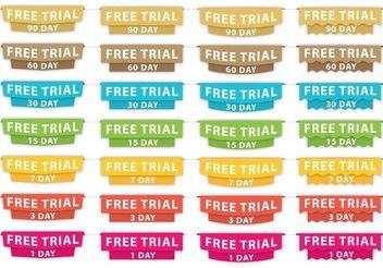 Free Trial Headers - Free vector #141061