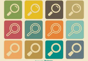 Retro / Viintage Style Search Icon Set - Free vector #141121