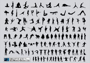 Sports Silhouettes - vector #141351 gratis