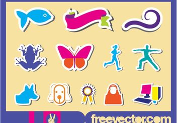 Stickers Set - vector gratuit #141391