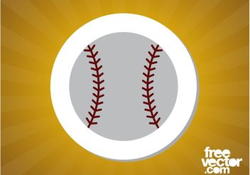 Baseball Sticker - vector #141401 gratis
