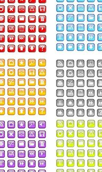 30 Free Vidro Icon Vector pack in six colors - Free vector #141481