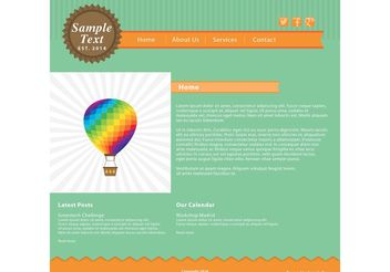 Green and Orange Web Page Vector Template - бесплатный vector #141591