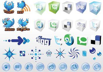 Social Media Web Vectors - Free vector #141621