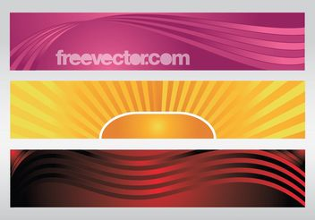 Colorful Banners Vectors - Kostenloses vector #141641
