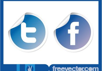 Vector Social Stickers - Free vector #141651