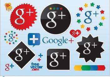 Google Plus Vector Logos - Free vector #141681