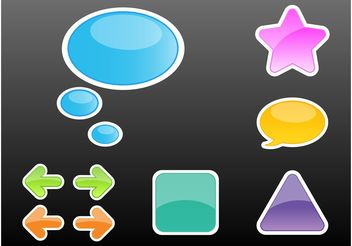 Cartoon Stickers - Free vector #141771
