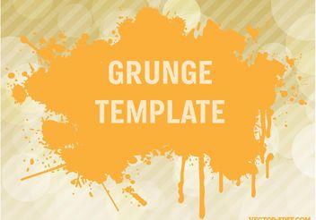 Grunge Vector Template - Kostenloses vector #141781