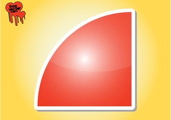 Red Sticker Graphics - Free vector #141821
