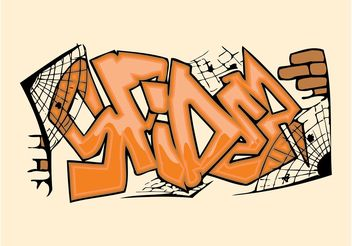 Spider Graffiti Piece - Free vector #141831