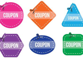 Scissors Coupon Vector - vector gratuit #141901