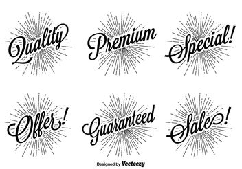 Retro Promotional Label Set - Free vector #141921