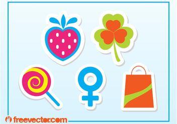 Free Sticker Vectors - Kostenloses vector #142041