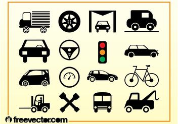 Transport Icons Vector - vector gratuit #142091
