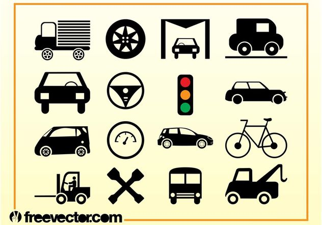 Transport Icons Vector - vector #142091 gratis