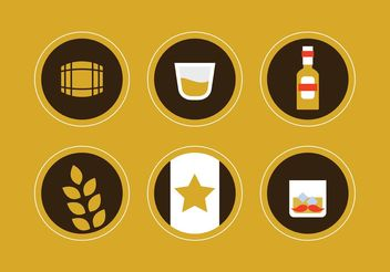 Whiskey Vector Icons - vector #142241 gratis