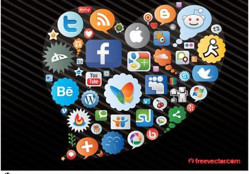 Social Network Icons - vector gratuit #142321