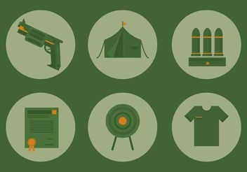 Military Icon Vector Set - Free vector #142381
