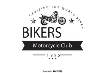 Bikers Club Logo Template - vector gratuit #142421