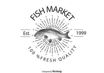 Vintage Fish Market Logo Template - Free vector #142431
