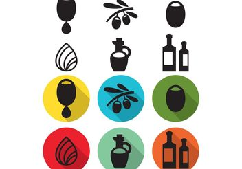 Olive Oil Droplet Vector Icons - Free vector #142441