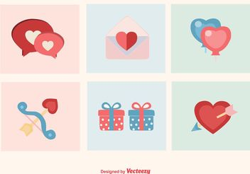 Valentine & Love Icons - Free vector #142581