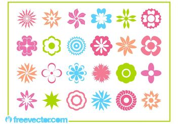 Floral Blossoms Icons - Free vector #142651