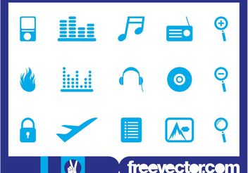 Random Icons Set - vector gratuit #142681