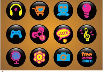 Icons Buttons - vector gratuit #142771