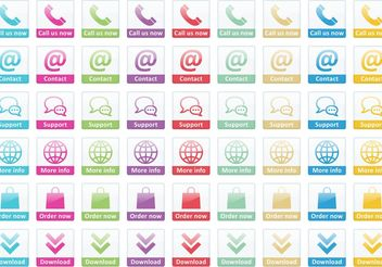 Call Us Now Small Button Vectors - бесплатный vector #142851