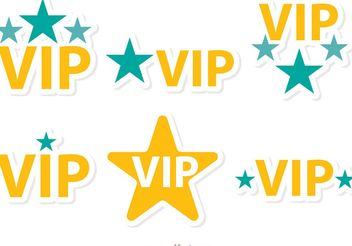 Stars Vip Icons Vector Pack - Free vector #142861