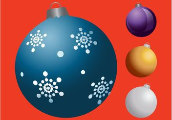 Christmas Balls Colorful Graphics - Free vector #142981