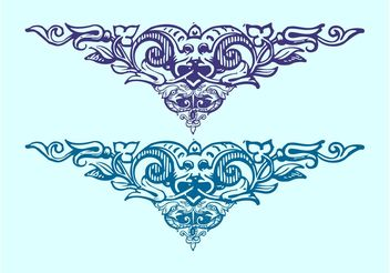Birds And Flowers Ornaments - Free vector #143001