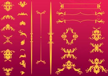 Elegant Ornaments - Free vector #143131