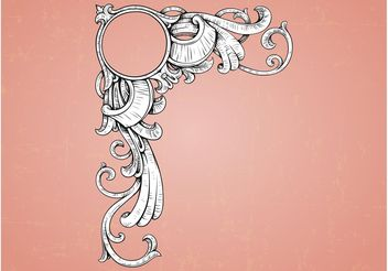 Vintage Frame Decoration - Free vector #143161