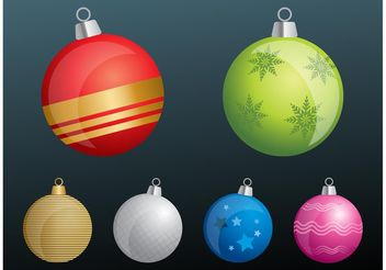 Tree Ornaments - Free vector #143171