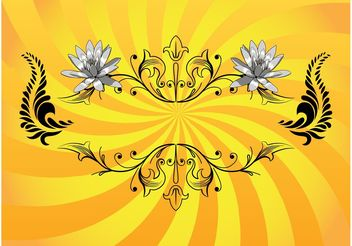 Floral Design Element Vector - vector #143201 gratis