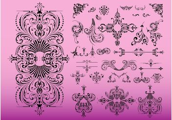 Vintage Swirls - vector #143221 gratis