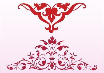 Antique Floral Silhouettes - vector gratuit #143241
