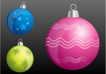 Christmas Balls Graphics - Free vector #143251