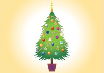 Christmas Tree Vector Image - бесплатный vector #143281
