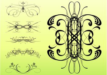 Decorative Swirls Set - Free vector #143341