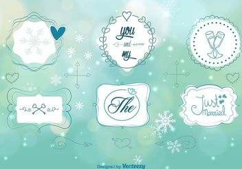 Winter Wedding Ornaments - Free vector #143451