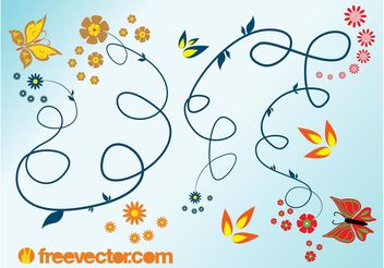Spring Flourishes - Free vector #143471