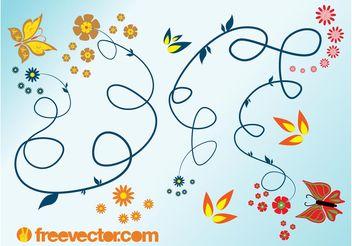 Spring Flourishes - vector #143471 gratis