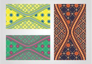 Batik Patterns - Kostenloses vector #143621