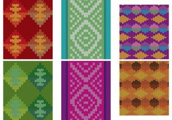 Native American Patterns Textile Vectors - Free vector #143631