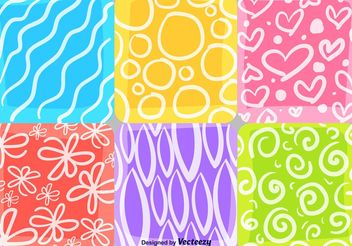 Summer and Spring Mosaic Patterns - vector gratuit #143671